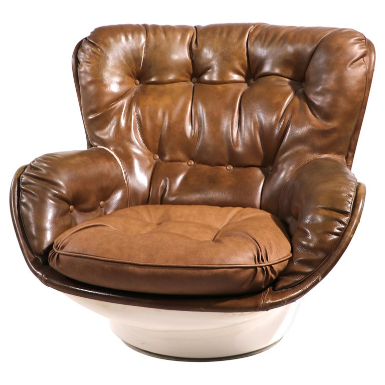 Space Age Swivel Chair by Charlton after Baughman