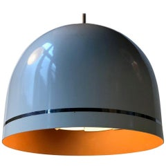 Space Age Typ 201 Dentist or Doctors White Hanging Lamp from Philips, 1960s