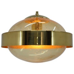 Space Age UFO Brass Pendant by Kamenicky Senov, 1970