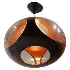 Space Age Ufo Brown Lamp by Luigi Colani, circa 1960s