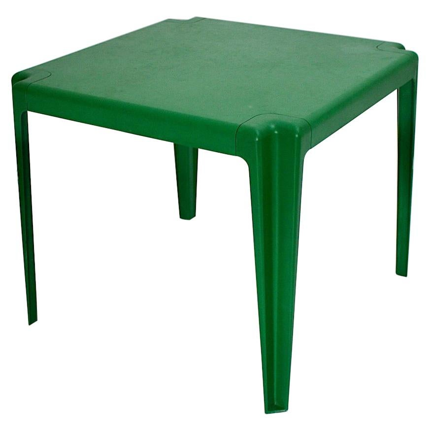 Space Age Vintage Green Plastic Dining Table Patio Table Helmut Bätzner, 1960s
