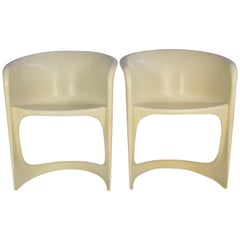 Space Age White Plastic Vintage Chairs by Steen Ostergaard, for Cado, Denmark