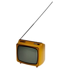 Space Age Yellow Vintage Plastic Television Hornyphon, 1970s, Austria