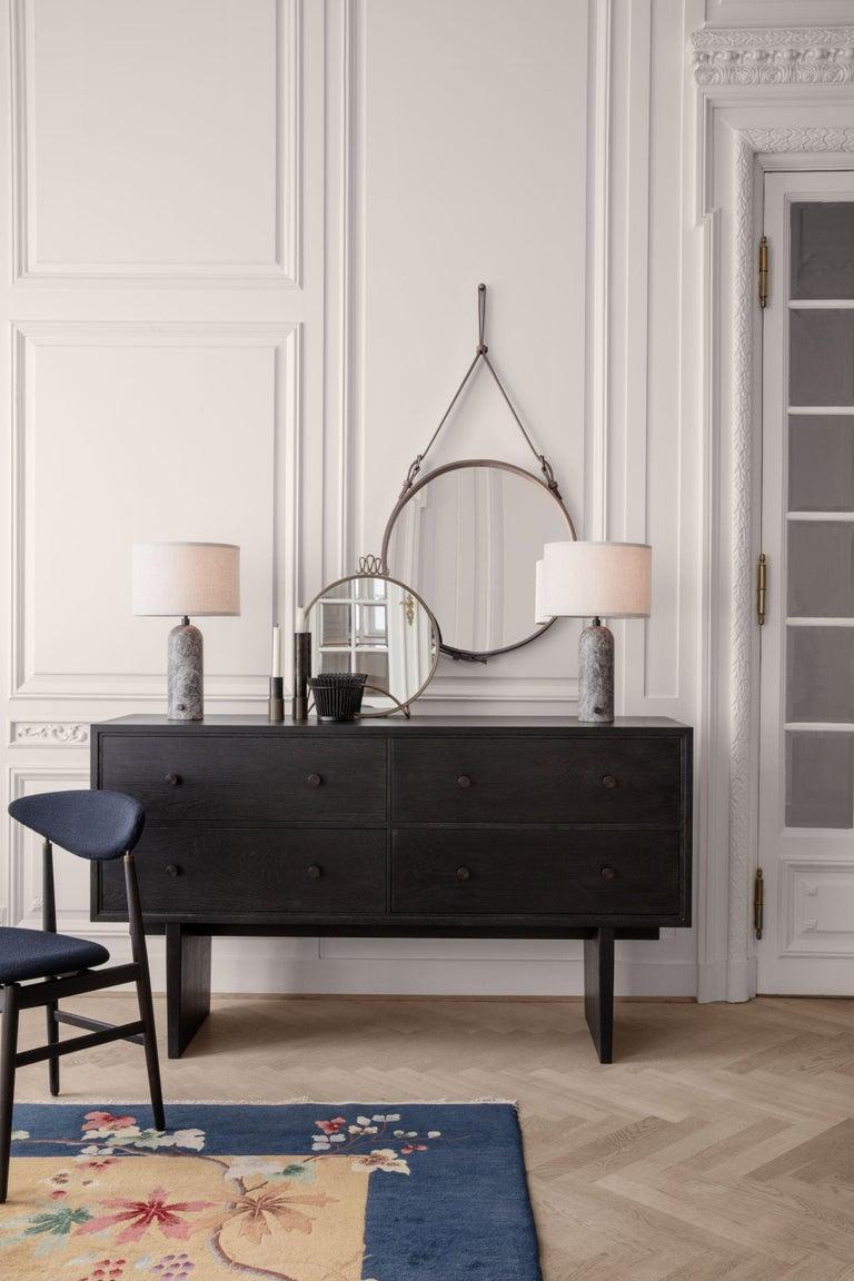 Metal Space Copenhagen 'Gravity' Table Lamp in Blackened Steel for Gubi For Sale