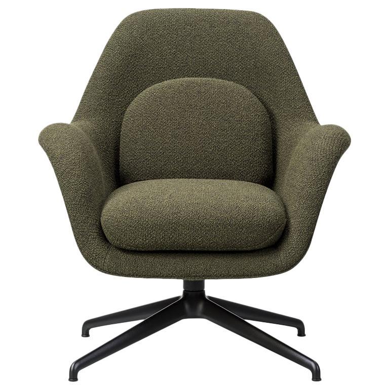 Space Copenhagen Swoon Lounge Chair, Petit, Swivel Base