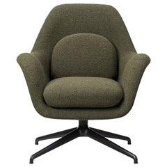 Space Copenhagen Swoon Lounge Chair, Petit, Swivel Base