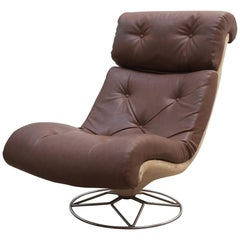 Space Lounge Chair Mid-Century Modern, Belgium, 1970s