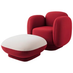 Space Oddity Armchair and Ottoman Designed by Thomas Dariel