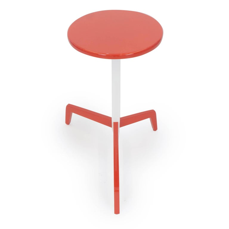 American Space Saving Modern Side Table For Sale