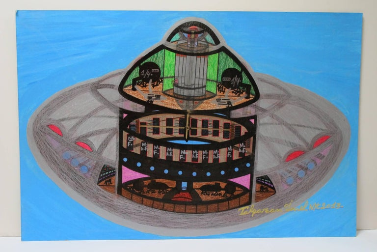 Outsider Art Spaceship UFO by Ionel Talpazan For Sale