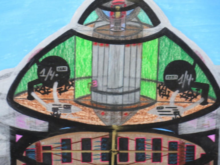 American Spaceship UFO by Ionel Talpazan For Sale