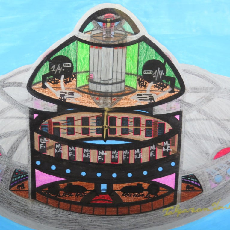 Contemporary Spaceship UFO by Ionel Talpazan For Sale