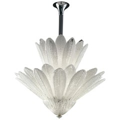 Spade 6746 Suspension Lamp in Glass and Chrome Finishing, by Barovier&Toso
