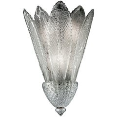 Spade 6747 Wall Sconce in Glass with Polished Chrome Finish, by Barovier&Toso