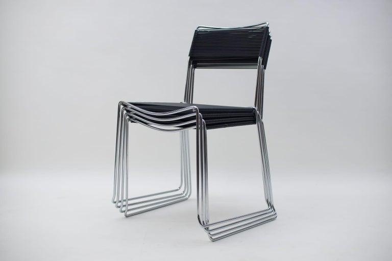 Mid-Century Modern Spaghetti Chairs by Giandomenico Belotti for Alias, 1980s, Set of 4 For Sale