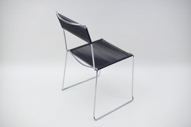 Italian Spaghetti Chairs by Giandomenico Belotti for Alias, 1980s, Set of 4 For Sale