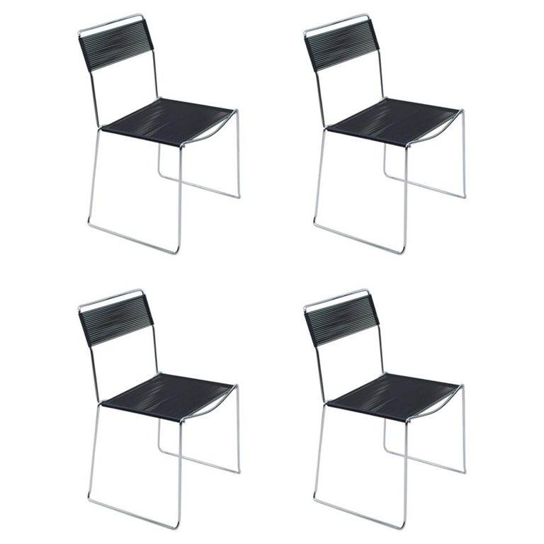 Spaghetti Chairs by Giandomenico Belotti for Alias, 1980s, Set of 4 For Sale