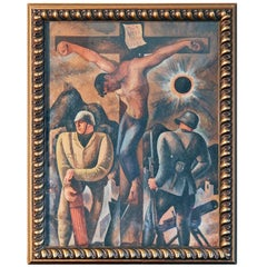 """Spain Crucified,"" Important Painting Supporting Anti-Franco Forces, Late 1930s"