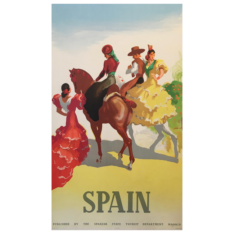Spain Tourism Original Vintage Poster Flamenco Dancers, 1941