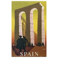'Spain' Travel and Tourism Original Vintage Poster by Delpy, 1948