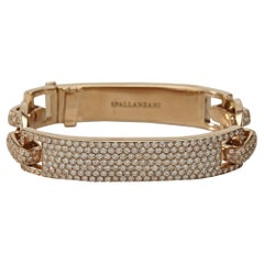 Spallanzani 18k Rose Gold and Pave Diamond Large Manette Bracelet