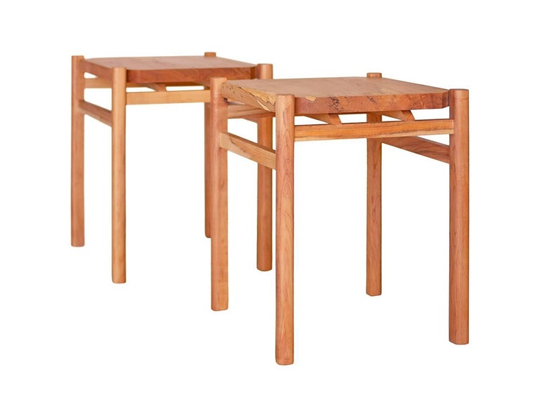Modern Simard Spalted Maple Wood Side/End Table by New York Heartwoods For Sale