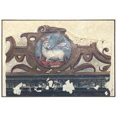 Spanish 16th Century Fresco Fragment
