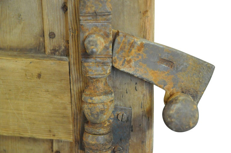 Pine Spanish 17th Century Entry Door For Sale