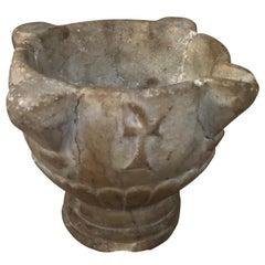 Spanish 17th Century Stone Mortar