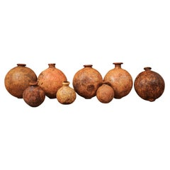 Spanish 1830s Rustic Wine or Olive Oil Jugs with Distressed Patina, Sold Each