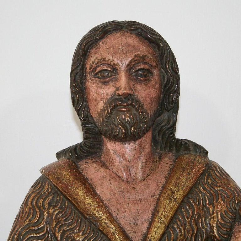 Spanish 18th Century Baroque Christ Figure For Sale 4