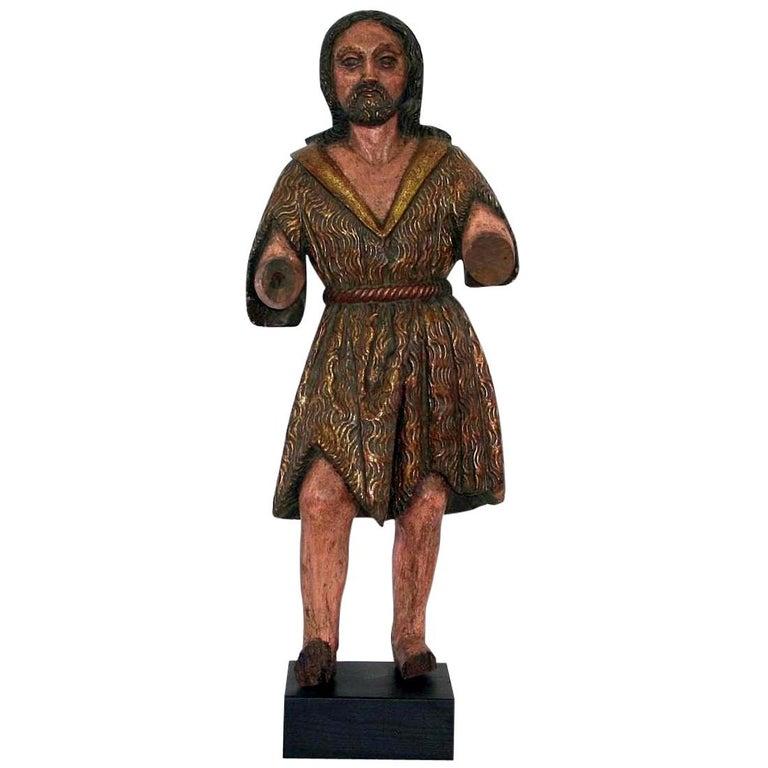 Spanish 18th Century Baroque Christ Figure For Sale