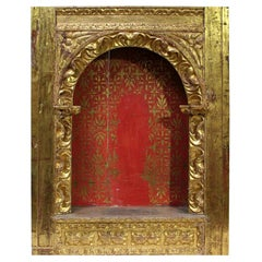 Spanish 18th Century Baroque Giltwood Altar Shrine