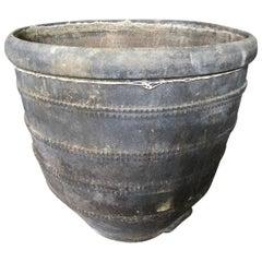 Spanish 18th Century Black Terracotta Urn, Planter