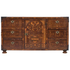 Spanish 18th Century Marquetry Vargueno Cabinet