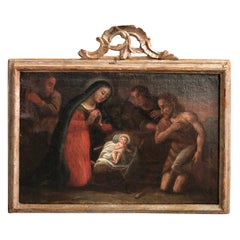 Spanish 18th Century Oil Painting of the Nativity