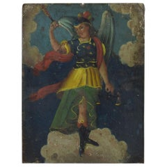 Spanish 18th Century Painting of an Archangel