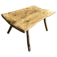 Spanish 18th Century Primitive Bench, Coffee Table
