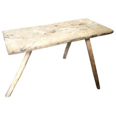Spanish 18th Century Primitive Side Table, Coffee Table