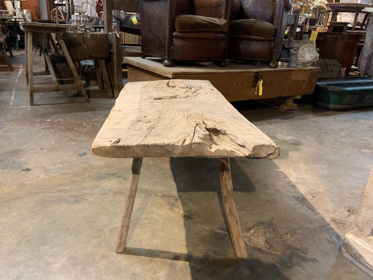 Spanish 18th Century Primitive Work Table or Coffee Table For Sale 1