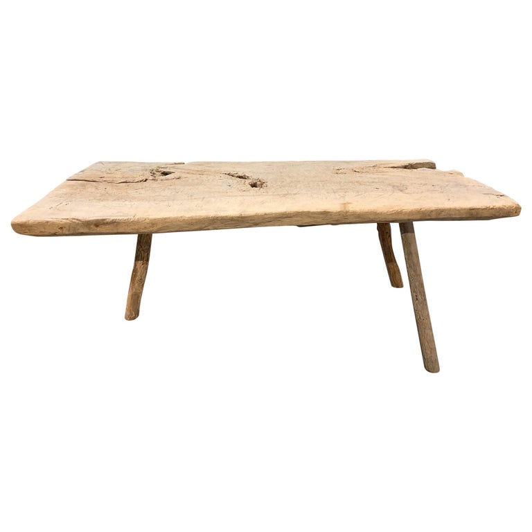 Spanish 18th Century Primitive Work Table or Coffee Table For Sale