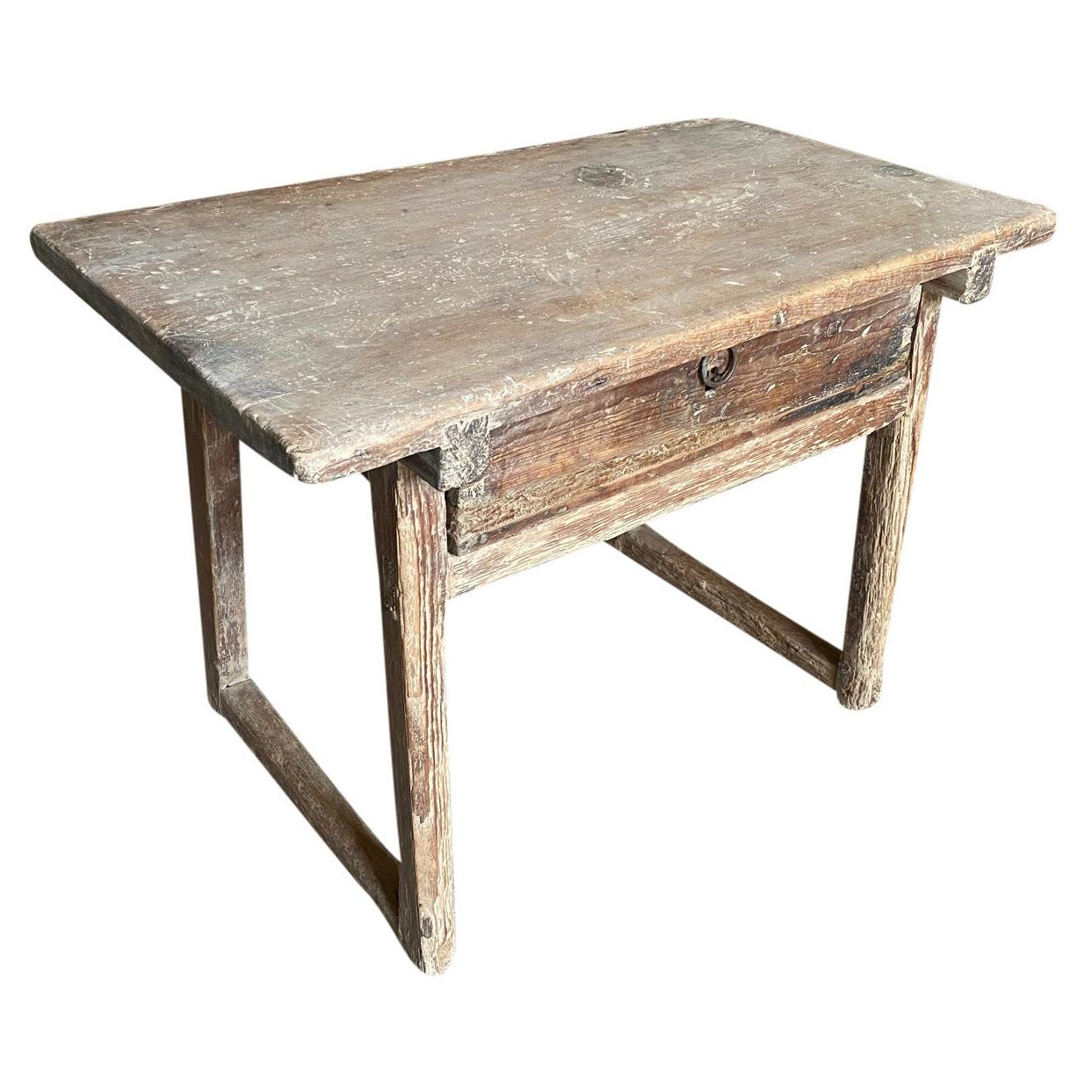Spanish 18th Century Rustic Side Table