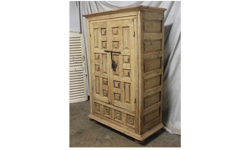 Primitive Spanish 18th Century Small Wardrobe For Sale