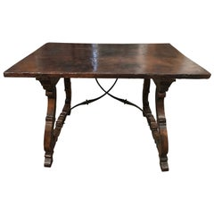 Spanish 18th Century Solid Board Top Writing Table