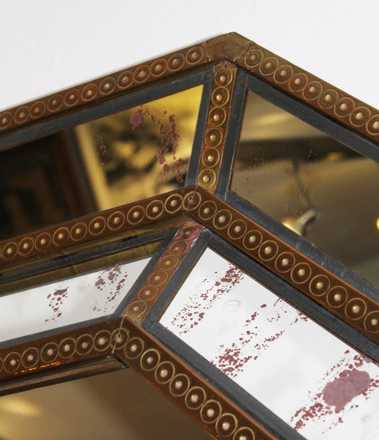 Spanish, 1980s Bedoya Arte Signed Octagonal Mirror In Good Condition For Sale In Malaga, ES