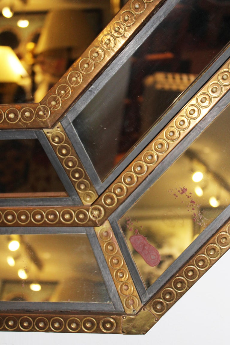 20th Century Spanish, 1980s Bedoya Arte Signed Octagonal Mirror For Sale
