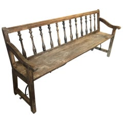 Spanish 19th Century Bench