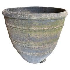 Spanish 19th Century Black Terracotta Urn, Planter
