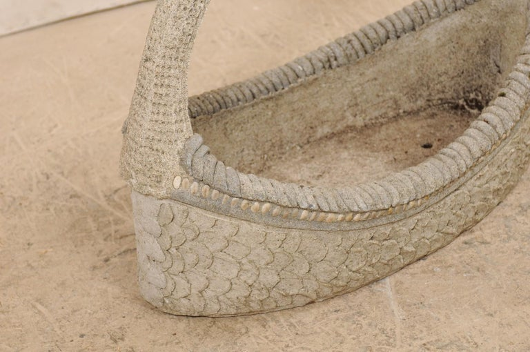 Spanish 19th Century Cast-Stone Garden Basket For Sale 4