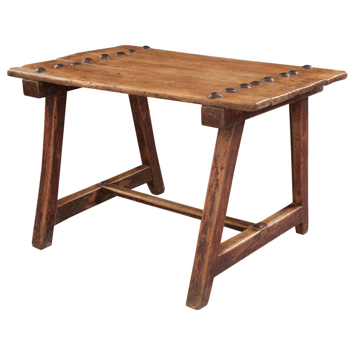 Spanish 19th Century Fruitwood Table